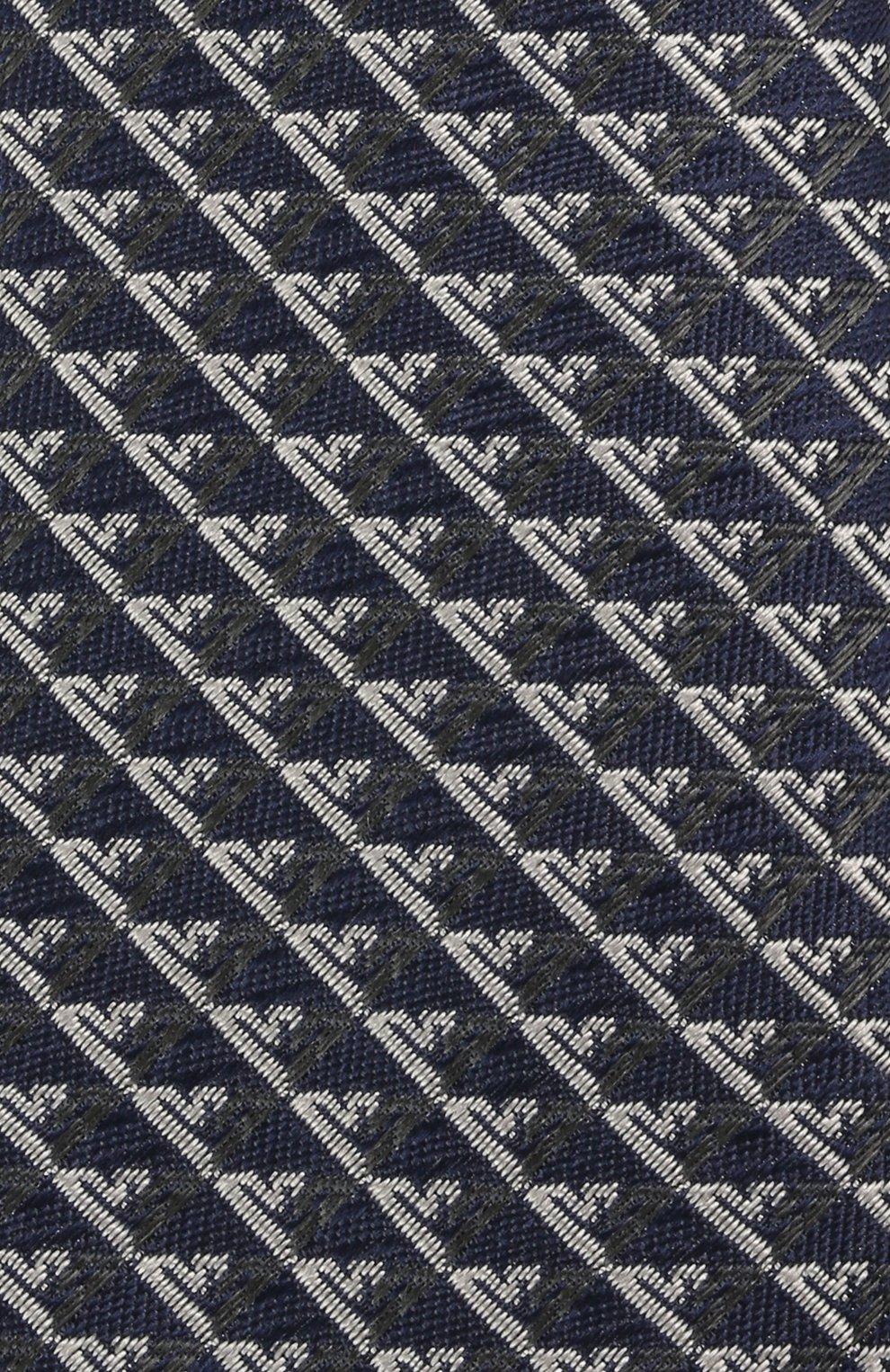 Детский шелковый галстук EMPORIO ARMANI синего цвета, арт. 409525/1A920 | Фото 3 (Материал: Текстиль, Шелк)