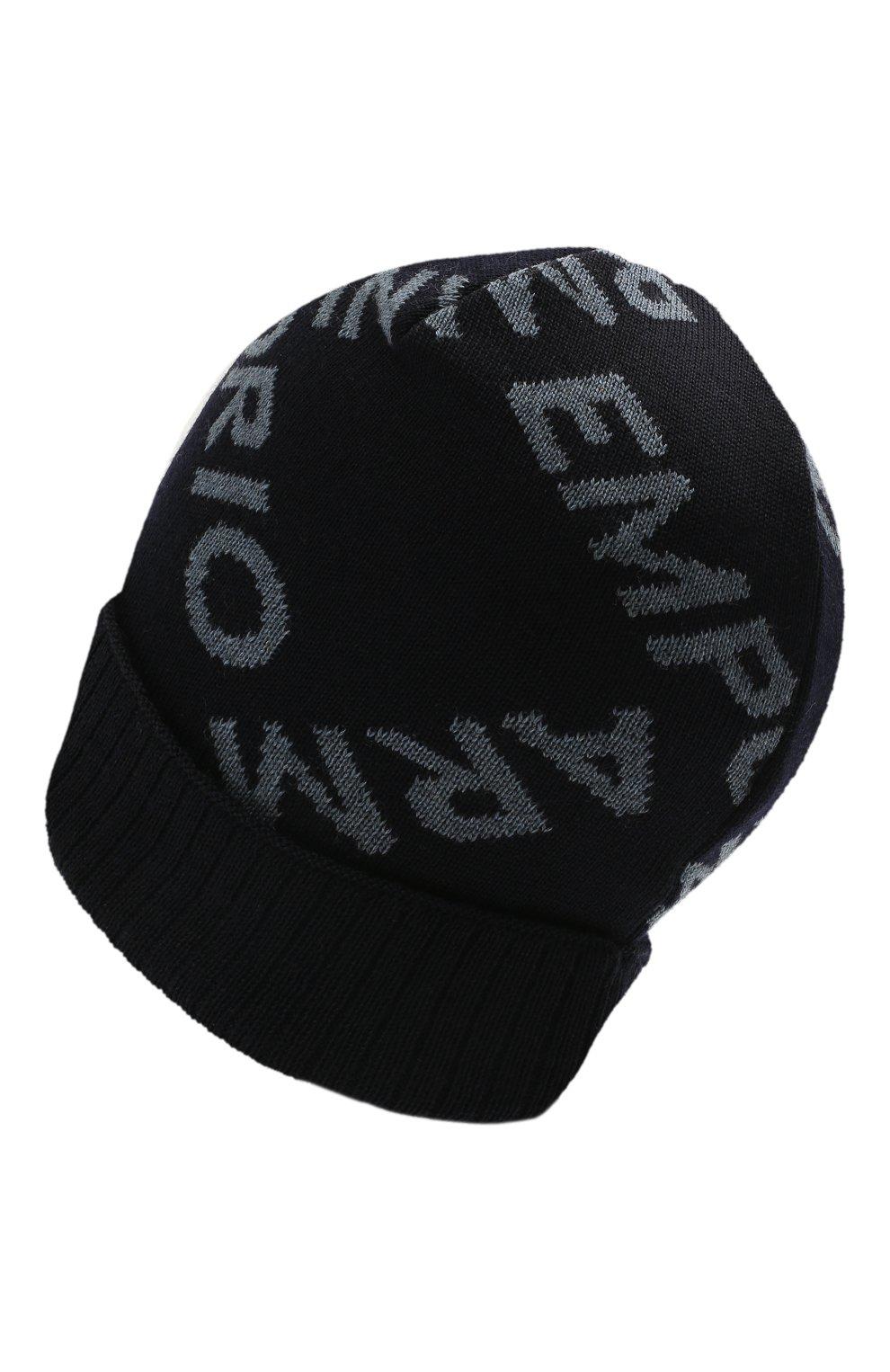 Детский комплект из шапки и шарфа EMPORIO ARMANI синего цвета, арт. 407513/1A765   Фото 3 (Материал: Шерсть)