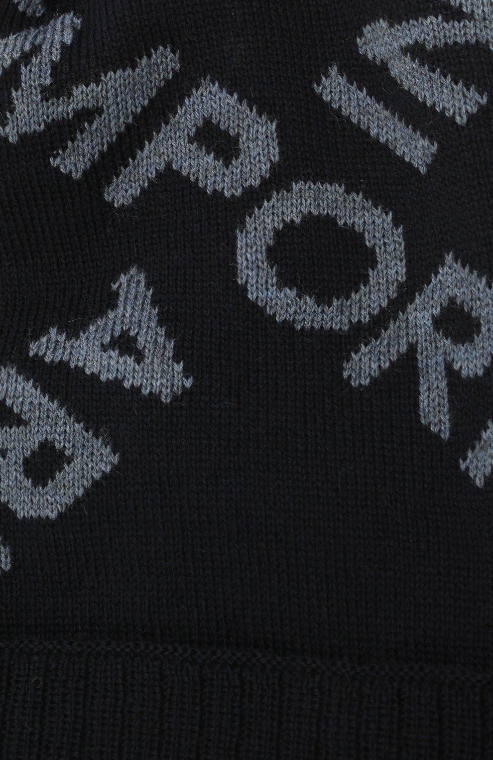 Детский комплект из шапки и шарфа EMPORIO ARMANI синего цвета, арт. 407513/1A765   Фото 4 (Материал: Шерсть)