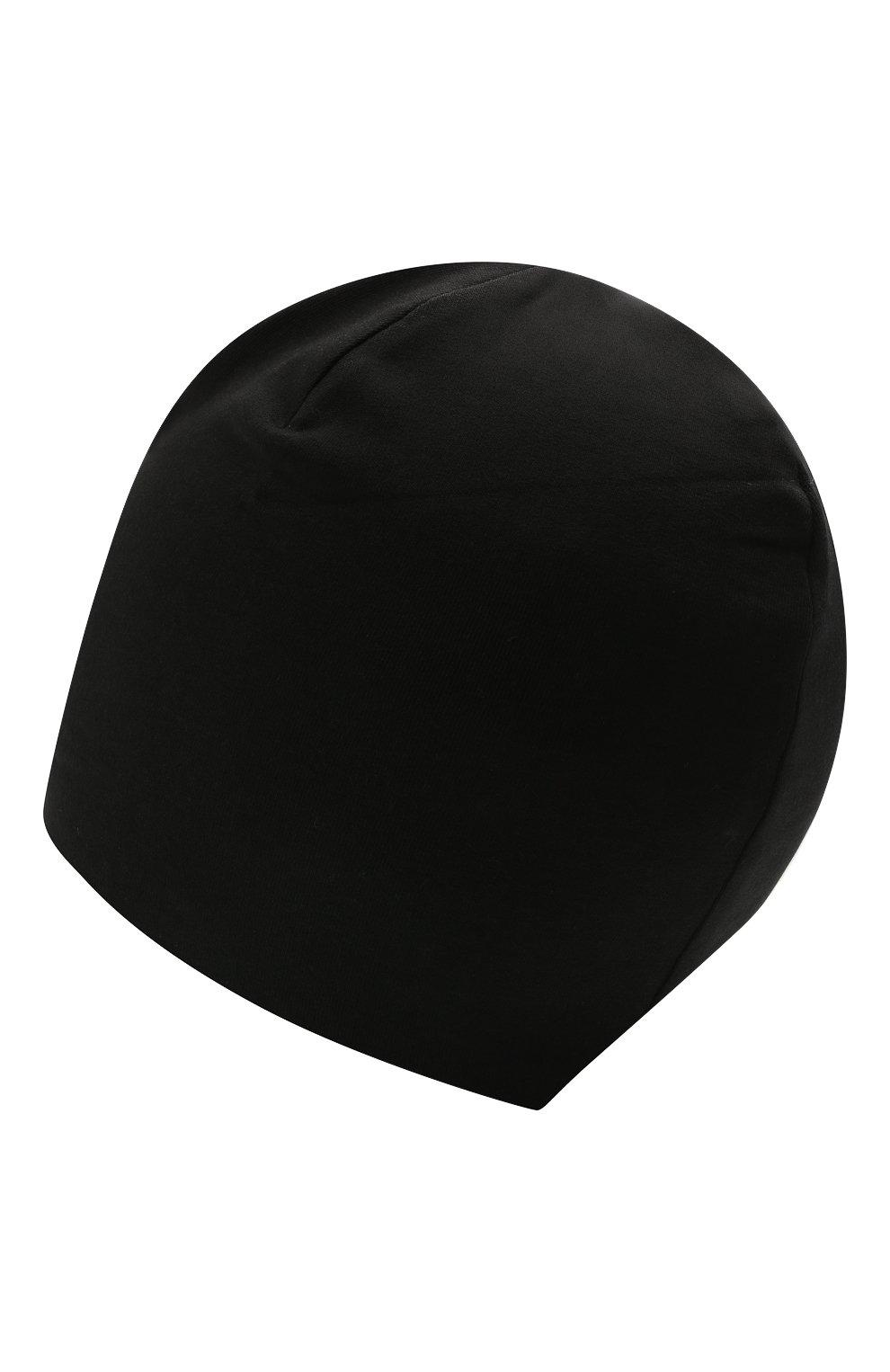 Детского хлопковая шапка MOSCHINO черного цвета, арт. HPX00Z/LDA16 | Фото 2 (Материал: Текстиль, Хлопок)