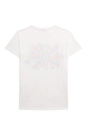 Детская хлопковая футболка GUCCI белого цвета, арт. 610190/XJDNU | Фото 2