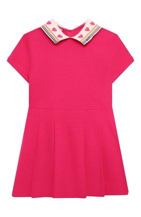 Женский хлопковое платье GUCCI фуксия цвета, арт. 662928/XJDM6   Фото 1