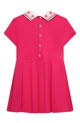 Женский хлопковое платье GUCCI фуксия цвета, арт. 662928/XJDM6   Фото 2