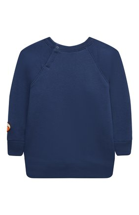 Детский удлиненный свитшот GUCCI темно-синего цвета, арт. 653687/XJDLN   Фото 2