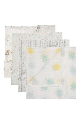 Детского комплект из четырех пеленок ADEN+ANAIS разноцветного цвета, арт. ESWC40011 | Фото 1