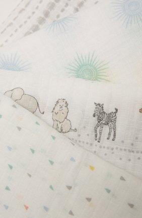 Детского комплект из четырех пеленок ADEN+ANAIS разноцветного цвета, арт. ESWC40011 | Фото 2