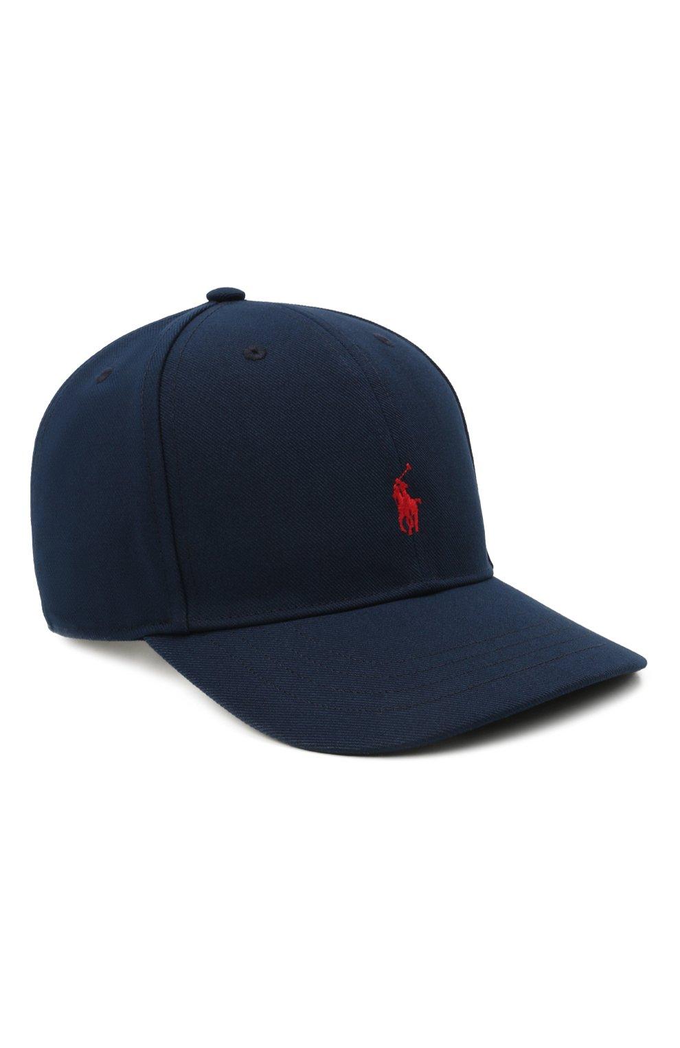 Детская бейсболка POLO RALPH LAUREN темно-синего цвета, арт. 323844896 | Фото 1 (Материал: Текстиль, Синтетический материал)