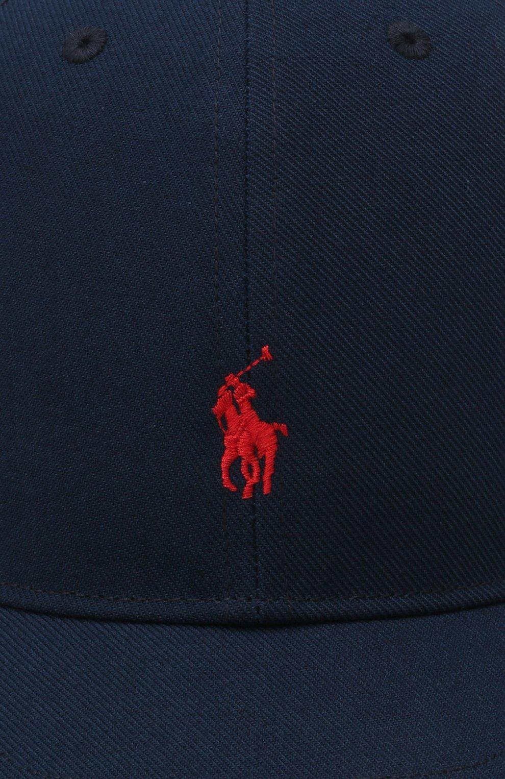Детская бейсболка POLO RALPH LAUREN темно-синего цвета, арт. 323844896 | Фото 3 (Материал: Текстиль, Синтетический материал)