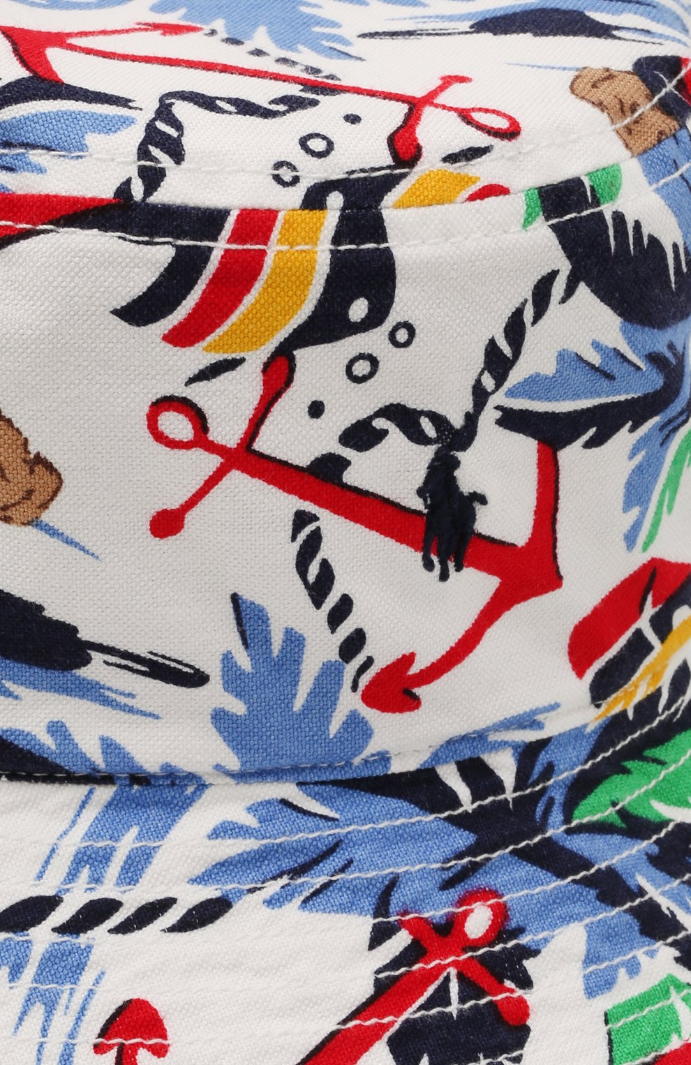 Детская хлопковая панама POLO RALPH LAUREN разноцветного цвета, арт. 322835648 | Фото 3 (Материал: Текстиль, Хлопок)