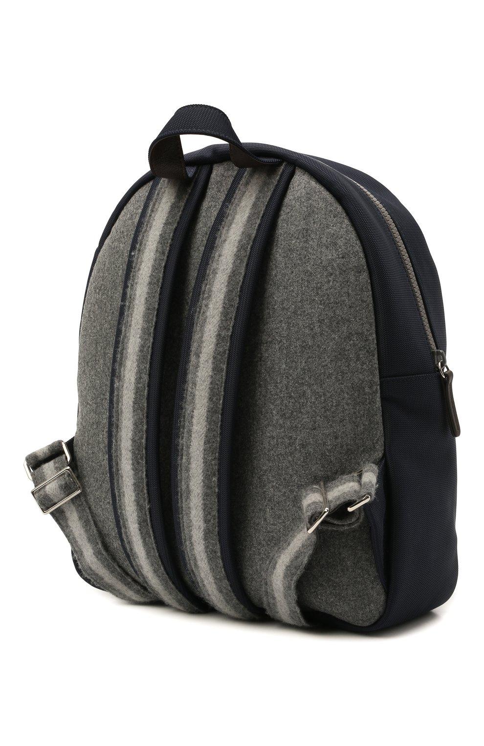 Детская шерстяной рюкзак BRUNELLO CUCINELLI серого цвета, арт. BNPLLB105   Фото 2 (Материал: Текстиль)