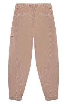 Детские хлопковые брюки BRUNELLO CUCINELLI розового цвета, арт. BB022P037C | Фото 2 (Материал внешний: Хлопок; Девочки Кросс-КТ: Брюки-одежда; Ростовка одежда: 12 лет | 152 см)