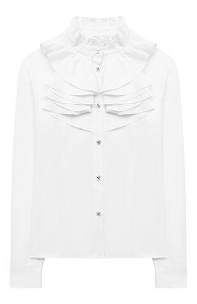 Детское хлопковая блузка ALESSANDRO BORELLI MILANO белого цвета, арт. SP2101 | Фото 1