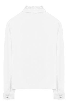 Детское хлопковая блузка ALESSANDRO BORELLI MILANO белого цвета, арт. SP2101 | Фото 2