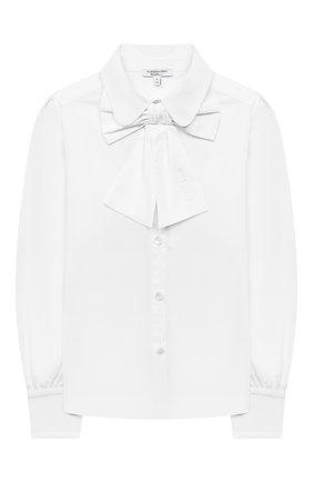 Детское хлопковая блузка ALESSANDRO BORELLI MILANO белого цвета, арт. SP2106 | Фото 1