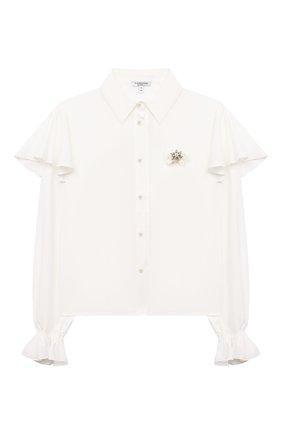 Детское блузка из вискозы ALESSANDRO BORELLI MILANO белого цвета, арт. SP2104 | Фото 1