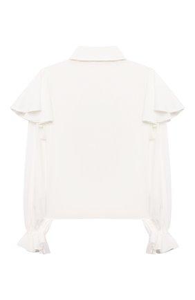 Детское блузка из вискозы ALESSANDRO BORELLI MILANO белого цвета, арт. SP2104 | Фото 2
