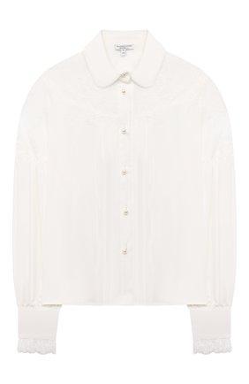 Детское блузка из вискозы ALESSANDRO BORELLI MILANO белого цвета, арт. SP2103 | Фото 1