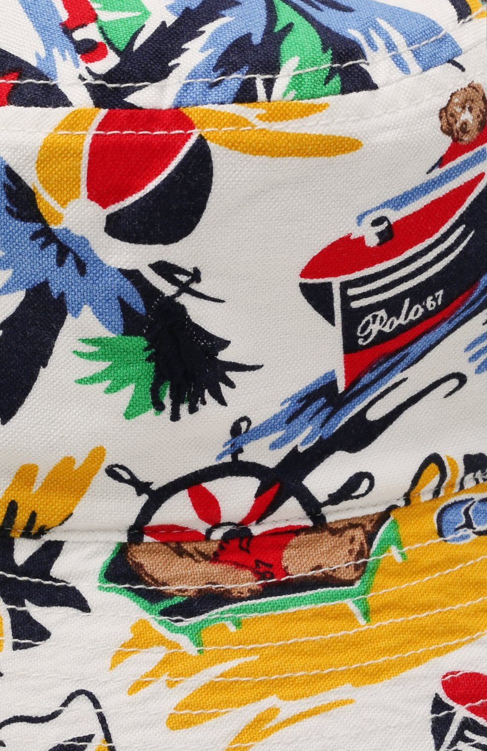 Детская хлопковая панама POLO RALPH LAUREN разноцветного цвета, арт. 323835648 | Фото 3 (Материал: Текстиль, Хлопок)