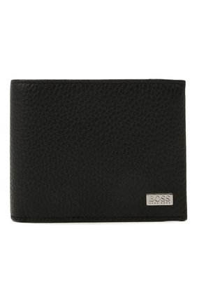 Мужской кожаное портмоне BOSS черного цвета, арт. 50441646 | Фото 1