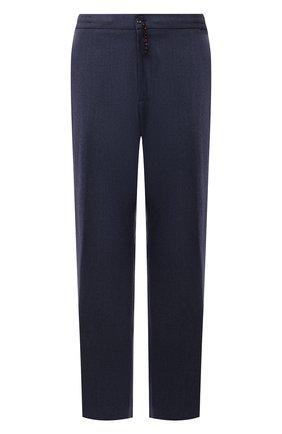 Мужские кашемировые брюки MARCO PESCAROLO синего цвета, арт. CHIAIAM/ZIP+SFILA/4442 | Фото 1 (Материал внешний: Кашемир, Шерсть; Случай: Повседневный; Big sizes: Big Sizes; Стили: Кэжуэл; Длина (брюки, джинсы): Стандартные)