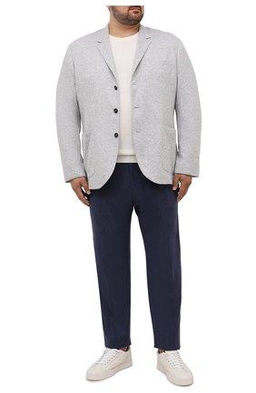Мужские кашемировые брюки MARCO PESCAROLO синего цвета, арт. CHIAIAM/ZIP+SFILA/4442 | Фото 2 (Материал внешний: Кашемир, Шерсть; Случай: Повседневный; Big sizes: Big Sizes; Стили: Кэжуэл; Длина (брюки, джинсы): Стандартные)