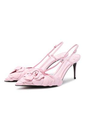 Женские кожаные туфли atelier 03 rose edition VALENTINO розового цвета, арт. WW2S0CD9/HLK | Фото 1