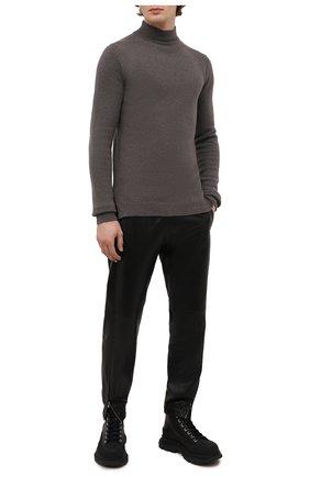 Мужской свитер из кашемира и шерсти RICK OWENS серого цвета, арт. RU02A5683/WSBR | Фото 2