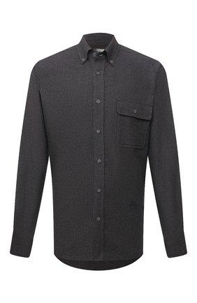 Мужская хлопковая рубашка ISABEL MARANT темно-серого цвета, арт. CH0752-21A025H/PILAR | Фото 1