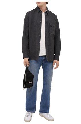 Мужская хлопковая рубашка ISABEL MARANT темно-серого цвета, арт. CH0752-21A025H/PILAR | Фото 2