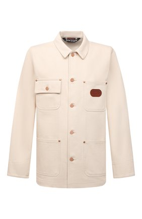 Мужская джинсовая куртка palm angels x missoni PALM ANGELS кремвого цвета, арт. PMYE005F21DEN0020384 | Фото 1 (Материал внешний: Хлопок; Кросс-КТ: Куртка, Деним; Длина (верхняя одежда): Короткие; Рукава: Длинные; Стили: Бохо)