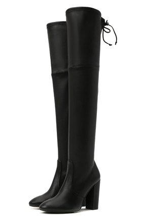 Женские кожаные ботфорты zuzanna 100 STUART WEITZMAN черного цвета, арт. S6296 | Фото 1