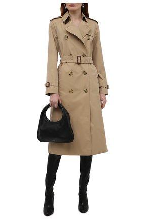 Женские кожаные ботфорты zuzanna 100 STUART WEITZMAN черного цвета, арт. S6296 | Фото 2