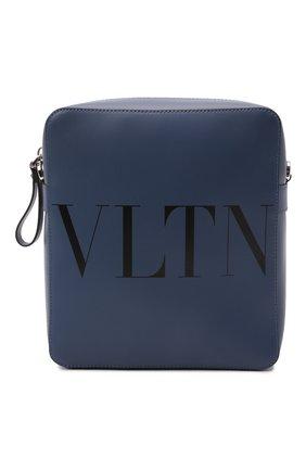 Мужская кожаная сумка vltn VALENTINO темно-синего цвета, арт. WY2B0942/WJW   Фото 1