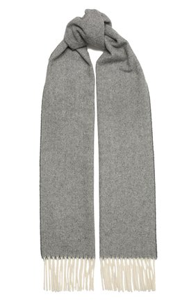 Мужской шерстяной шарф ETON серого цвета, арт. A000 30132   Фото 1 (Материал: Шерсть; Кросс-КТ: шерсть)
