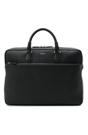 Мужская кожаная сумка для ноутбука SERAPIAN темно-синего цвета, арт. SRCCHMLL706540A   Фото 1