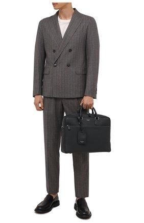 Мужская кожаная сумка для ноутбука SERAPIAN темно-синего цвета, арт. SRCCHMLL706540A   Фото 2