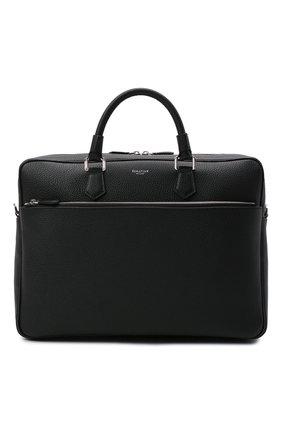 Мужская кожаная сумка для ноутбука SERAPIAN черного цвета, арт. SRCCHMLL706540A | Фото 1