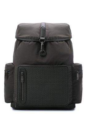 Мужской комбинированный рюкзак pelletessuta special ERMENEGILDO ZEGNA хаки цвета, арт. C1282P-LHGRP | Фото 1