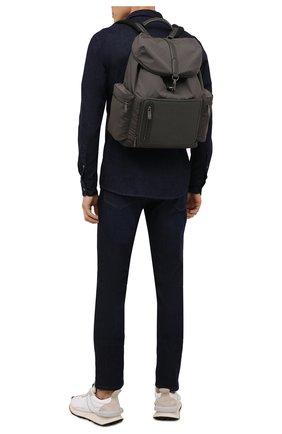 Мужской комбинированный рюкзак pelletessuta special ERMENEGILDO ZEGNA хаки цвета, арт. C1282P-LHGRP | Фото 2