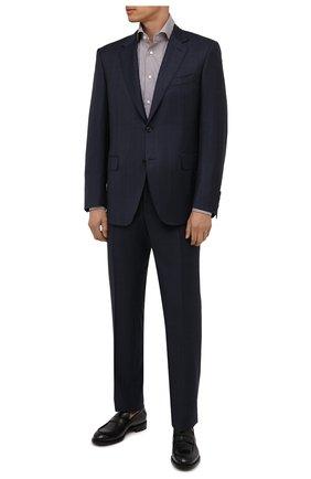 Мужская хлопковая сорочка ERMENEGILDO ZEGNA светло-коричневого цвета, арт. 201317/9MS0BA | Фото 2