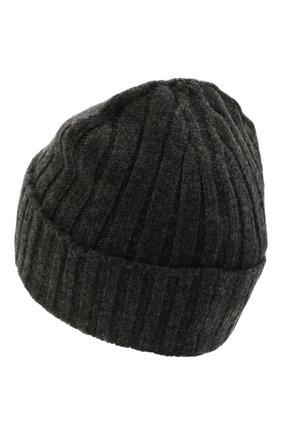 Мужская шерстяная шапка STONE ISLAND темно-серого цвета, арт. 7515N24B5 | Фото 2