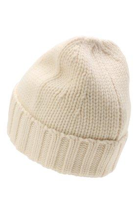 Мужская шерстяная шапка STONE ISLAND кремвого цвета, арт. 7515N17D6 | Фото 2 (Материал: Шерсть; Кросс-КТ: Трикотаж)