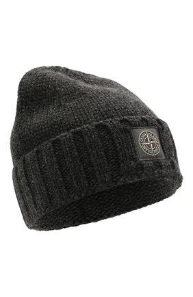 Мужская шерстяная шапка STONE ISLAND темно-серого цвета, арт. 7515N17D6 | Фото 1