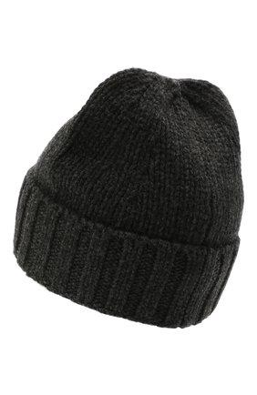 Мужская шерстяная шапка STONE ISLAND темно-серого цвета, арт. 7515N17D6 | Фото 2