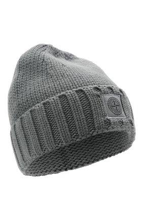 Мужская шерстяная шапка STONE ISLAND серого цвета, арт. 7515N17D6 | Фото 1