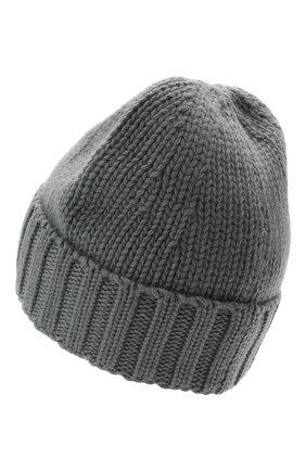 Мужская шерстяная шапка STONE ISLAND серого цвета, арт. 7515N17D6 | Фото 2