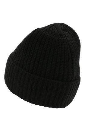 Мужская шерстяная шапка STONE ISLAND черного цвета, арт. 7515N10B5 | Фото 2