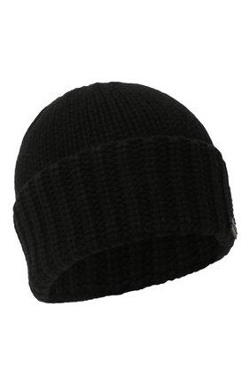 Мужская кашемировая шапка SAINT LAURENT черного цвета, арт. 629100/3Y205 | Фото 1 (Материал: Шерсть, Кашемир; Кросс-КТ: Трикотаж)