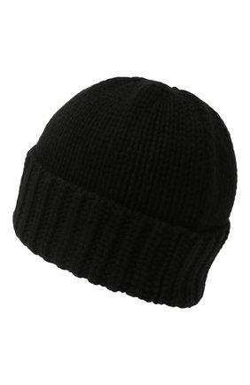 Мужская кашемировая шапка SAINT LAURENT черного цвета, арт. 629100/3Y205 | Фото 2 (Материал: Шерсть, Кашемир; Кросс-КТ: Трикотаж)