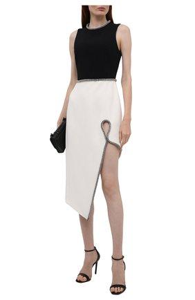 Женское платье DAVID KOMA черно-белого цвета, арт. PF21DK15D | Фото 2